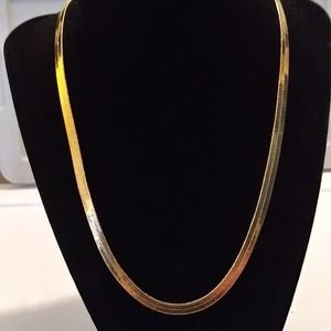 18ktgf herringbone necklace